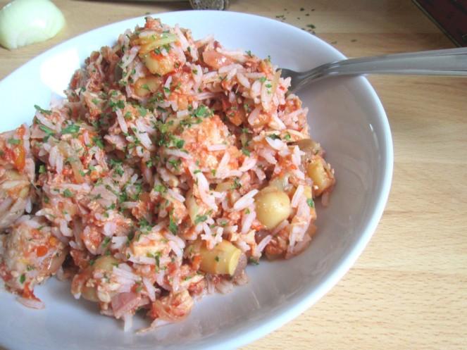 Poêlée riz au thon