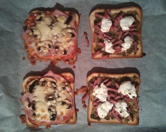 Mini-pizzas au four
