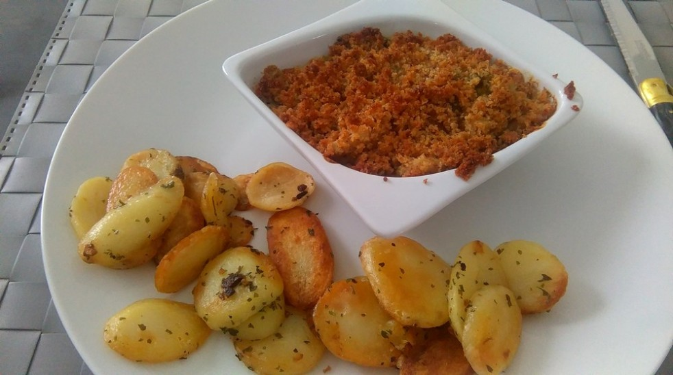 Crumble poulet et moutarde