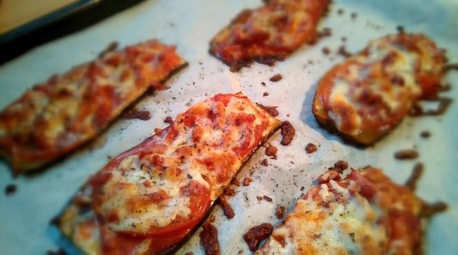 Pizzas aubergines