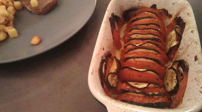 Tian de légumes (courgette et tomate)