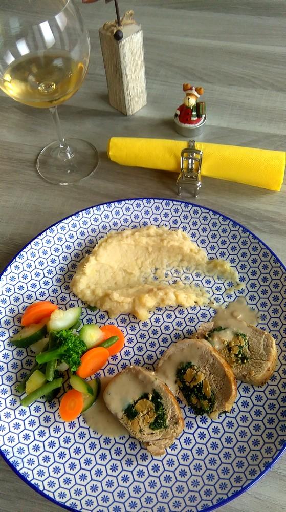 Recette du filet mignon au foie gras et épinards